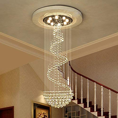 CZZ Gbyzhmh The Lighting Rotating Chandelier from Crystal Chandeliers, Modern Lounge Scale Long Buildings Interior Lighting,11 luci / 70 * 220 cm