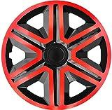 Luckyberg tapacubos – 'FAST LUX/ACTION' 15 pulgadas Set de 4 – ajuste universal para coches y otros vehículos