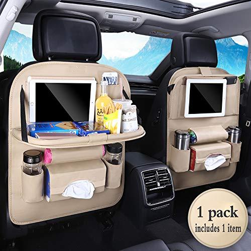 PU Leather Premium Car BackSeat Organizer Travel Accessories, BackSeat Car Organizer Seat...