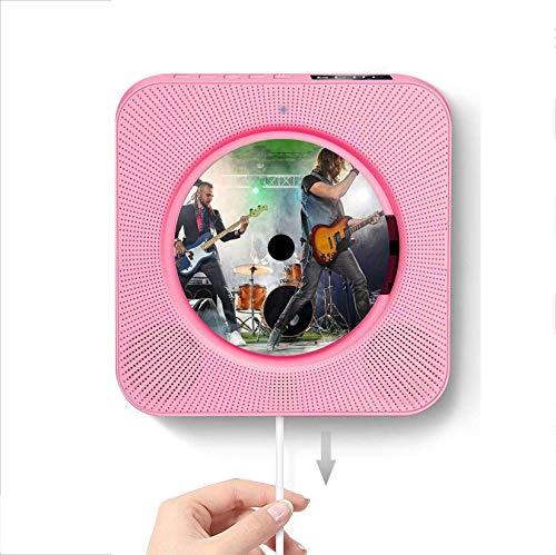 WLQWER Reproductor De CD Portátil con Bluetooth, Calidad De Sonido HD, Montaje...