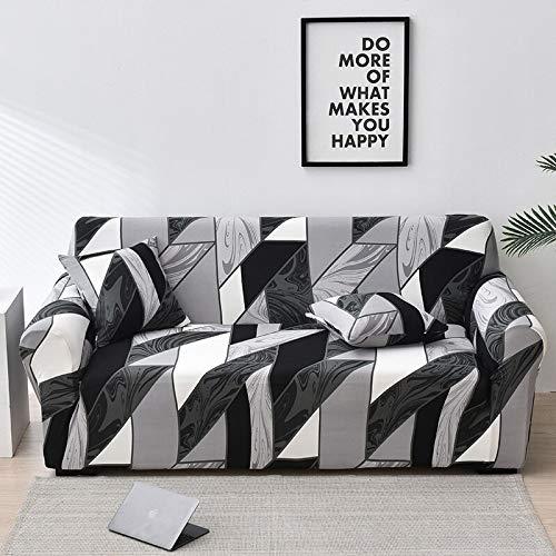 Funda de sofá elástica con Estampado Floral, Fundas elásticas Protectoras para Muebles, Fundas de sofá, Fundas de sofá para Sala de Estar A2, 2 plazas