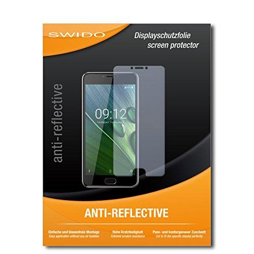 SWIDO Schutzfolie für Acer Liquid Z6 Plus [2 Stück] Anti-Reflex MATT Entspiegelnd, Hoher Festigkeitgrad, Schutz vor Kratzer/Bildschirmschutz, Bildschirmschutzfolie, Panzerglas-Folie