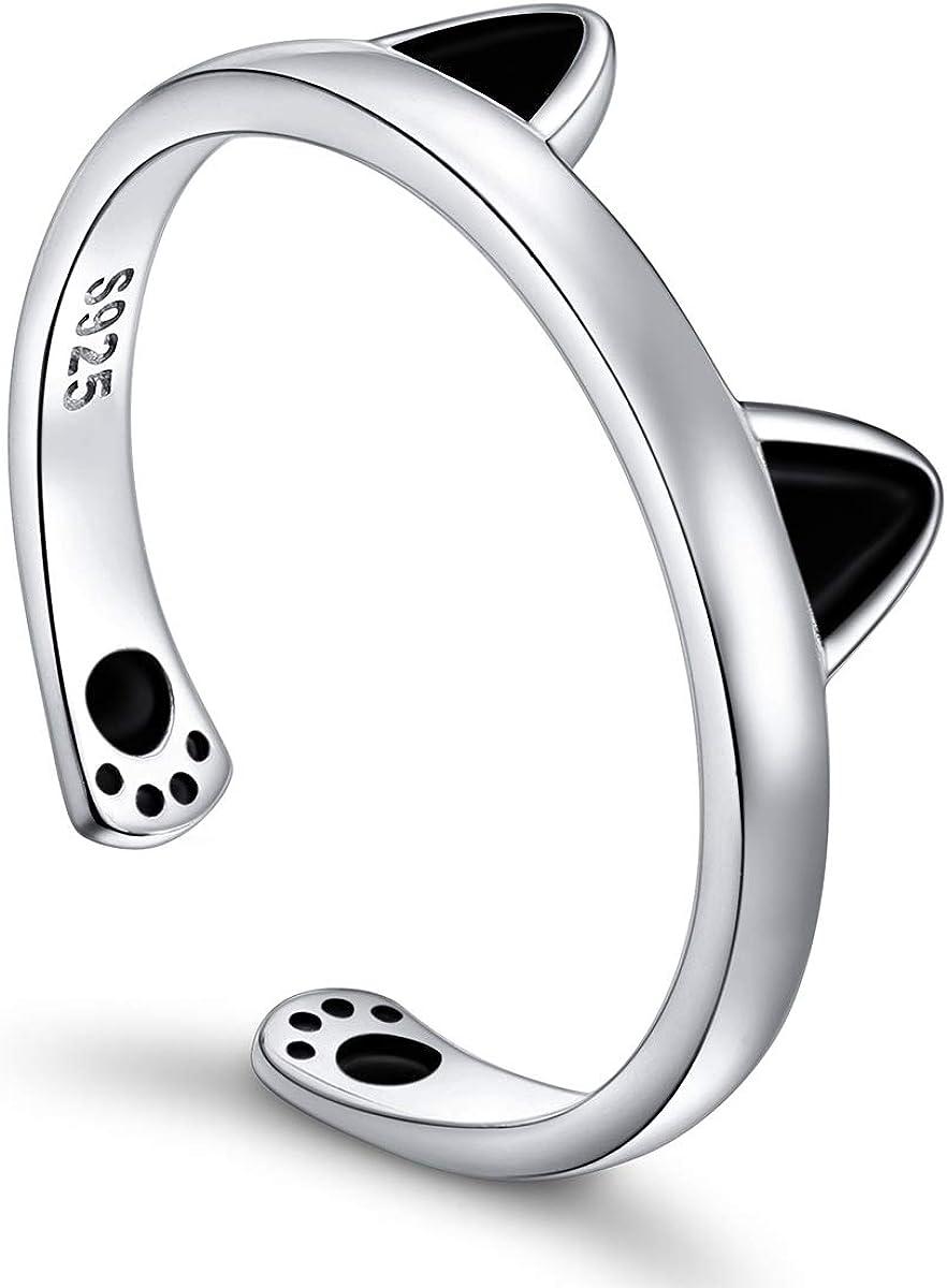 S925 Sterling Silver Puppy Elegant Pet Tampa Mall Lovers Adju Open Print Love Heart