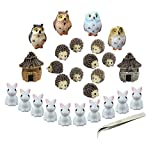 Miniatur Garden Ornaments, nicwhite 26 Miniatur Ornaments Kit Set Fairy Garden Figuren Zubehör...