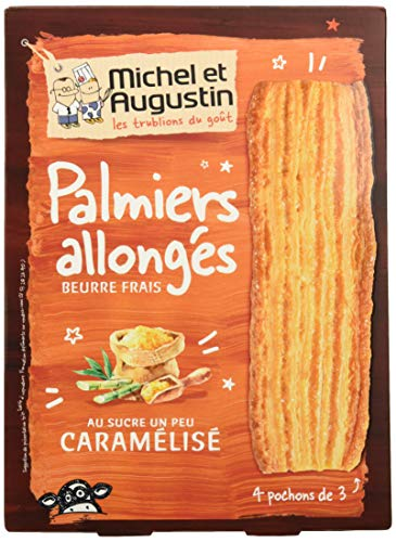 MICHEL ET AUGUSTIN - Biscuits Palmiers Allongés Sucre Caramélisé - Palmiers Allongés au Sucre Caramélisé
