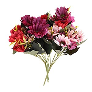 Holibanna 3 Bunch Cosmos Flowers Artificial Simulation Flower Centerpieces Decoration for Home Weeding (Blue-Purple Yellow-Purple White)