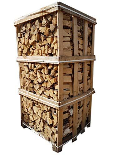 Palette mumba® Brennholz Kaminholz Feuerholz Grillholz Ofenholz Scheitholz (900kg Birke, 25cm)