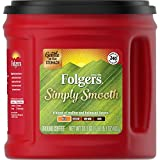 Folgers Simply Smooth Mild Roast Ground Coffee, 31.1 Ounces, Red, 1.94 Pound (Pack of 1) (20513)