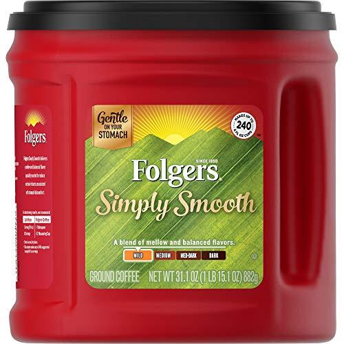 Folgers Simply Smooth Mild Roast Ground Coffee