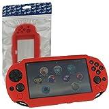 ZedLabz SC-1–Carcasa de Protección en Gel Skin Silicona blanda para Sony PS Vita 2000slim–rojo