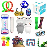 The Ultimate Sensory Toy Fidget Toys Bundle 14 Varieties 21 Packs For Kids Mochi Squishies Toys/Infinity Cube/Emoji Stress/Squeeze Bean/Fidget Stick/Twisted Toy Adult ADD ADHD Stress Relax Prime