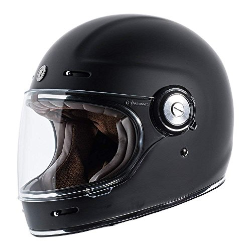 TORC - T115:24 T1 Unisex-Adult Retro Full-face-Helmet-Style Motorcycle (Matte Black, Large)