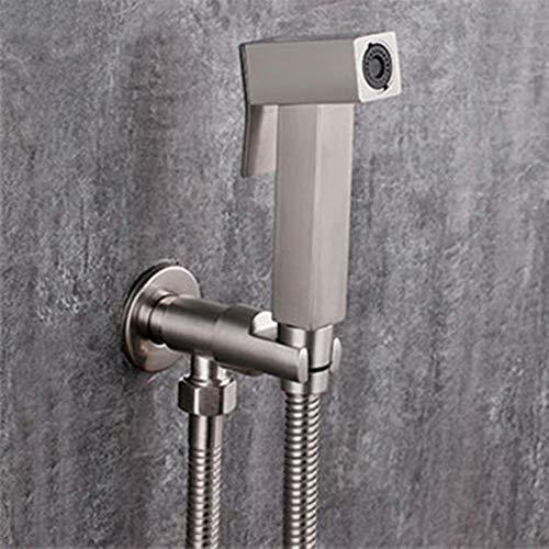 WC bidet acero inoxidable cepillado de agua fría de la esquina de la válvula de mano higiénico cabeza de ducha de lavado de mascotas pulverizador aerógrafo grifos, grifo del bidé set 3