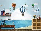 Hombres y mujeres Niños s Habitación Sofá Tema de dibujos animados Fondo de pantalla mar 3D Estéreo Pared Pintado Papel tapiz 3D Decoración dormitorio Fotomural sala sofá pared mural-300cm×210cm
