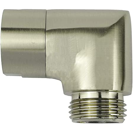G-Sunny Brushed Nickel Handhold Shower Elbow Adapter Shower Head Elbow Adapter (90degree)