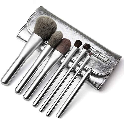 WEHQ 7PCS De Maquillage De Brosse pour Les Cosmétiques Fondation Eyeshadow Cils Eyeliner Correcteur De Teint Poudre Brosse Kit avec Sac Cosmétique