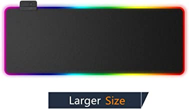 Lawei RGB Gaming Mouse Pad Large Laptop 31.5 x 11.8 Inch Glowing Led Mousepad with Non-Slip Rubber Base for Soft Computer Keyboard Mice Mat for MacBook Desk PC