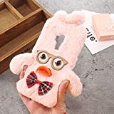 ZYQ Dr Duck Protector TPU Silicone Skin Etui Case for Oukitel K6000 Pro Gel Protective Cover Fashion Hairy Cute Style Pink