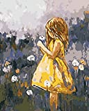 Yellow Skirt Girl DIY Paint by Numbers Kit with Brushes and Acrylic Paints Birthday Gifts for Adults Kids Beginner Paint on Canvas 4050 cm 1620 inch (Without Frame)