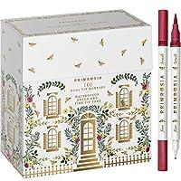 PRIMROSIA 100 デュアルチップマーカーペン ファインライナーと水彩ブラシペン アートスケッチイラスト カリグラフィーまたはジャーナル描画用塗り絵