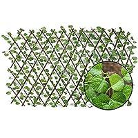 草の壁のパネルの人工的なフェンスの木製のヘッジの保護緑の壁屋外の使用スクリーニングのトレリスのプライバシーを拡大するバルコニー裏庭の家の装飾的なフェンスのための木のフェンスの塀の塀