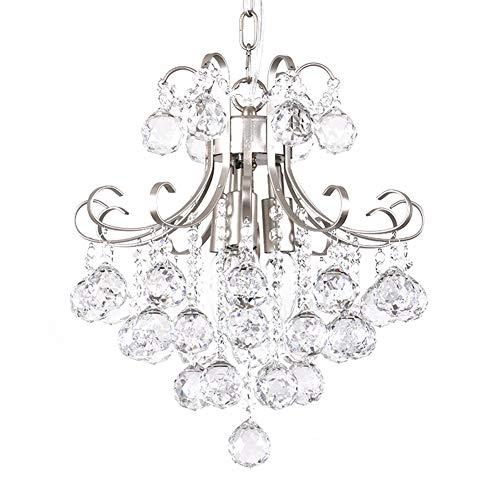 Kristall Kleine Kronleuchter Kerze Lampe Kristalllampe Esszimmer Kristalllüster Wohnzimmer Hängelampe Transparent 40 cm