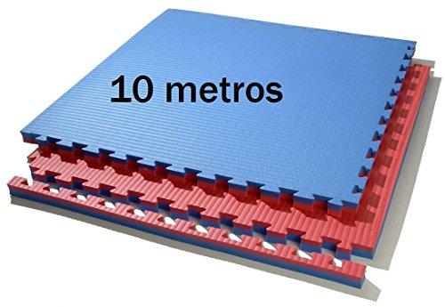 Grupo Contact 10 m. Cuadrados de Tatami (Rojo/Azul) de Grosor 2 cm. Medida 1 x 1 m.