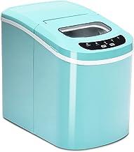 COSTWAY Machine à Glaçons Portable avec Réservoir d'Eau de 2,2 L, Bac à Glace de 0,7 kg et Pelle à Glace, 12KG/24H, 9 glaç...