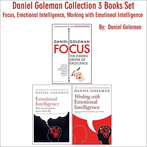 Daniel Goleman Collection, 3 Book Set cover art