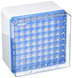 Simport Cryostore T314-581B Series 581 Polycarbonate Storage Box for 3ml to 5 ml Cryogenic Tubes, Blue (Case...