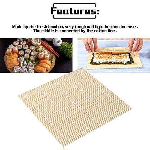 Sushi Rolling Roller Bamboo DIY Sushi Mat Onigiri Rullo di Riso Hand Maker Sushi Tools Cucina Giapponese Sushi Maker Tool - in Legno