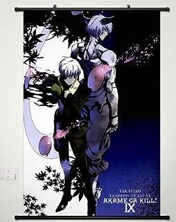 Wall Scroll Poster Fabric Painting For Anime Akame ga KILL Najenda & Susanoo 016 S