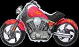 LoonBalloon MOTORCYCLE Harley Davidson Hog Bike PINK Orange Flames 45' Party Mylar Balloon