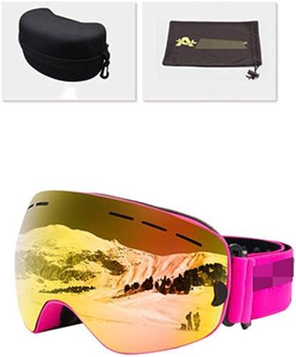 HuanXin-M574 Lunettes de Ski UV400 Lunettes de Ski Snowboard Anti-buée pour Hommes et Femmes Lunettes de Patinage Professionnelles pour motoneige