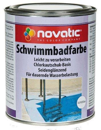 novatic Schwimmbadfarbe CD08 - RAL5012 Lichtblau - 30kg