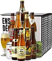 Un coffret de 11 bières blondes et un verre de dégustation ! Vous préférez les bières blondes à toutes les autres ? Ne cherchez pas plus loin, ce Coffret Bières Blondes est fait pour vous. Il reprend 11 bières de différentes brasseries, mêlant qualit...