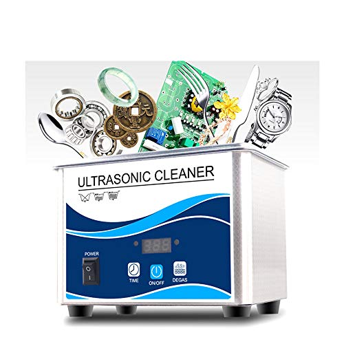 LXMBox Ultrasonic Jewelry Cleaner Professional 0.8L Ultrasonic Cleaner Per Scientifc Lab Jewellery Store Medical and Dental Labs Ricambi Auto