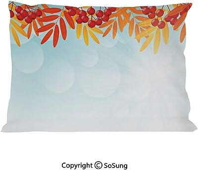 Amazon.com: Rowan - Juego de 2 fundas de almohada, diseño de ...