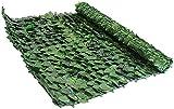 Verdevip Siepe Artificiale per Balconi in Rotolo da 1,5x3 mt (4,5mq) Rete Frangivista Ombreggiante con Foglie Finte per Arredo Decorativo Esterni Recinzioni Ringhiere Giardini