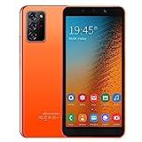 Zhat Smartphone, Tarjetas Dobles Smartphone con Doble Modo de Espera, cámaras de Alta definición Tarjetas Dobles Doble Modo de Espera Resolución 854X480 para Android 8.1(Orange)