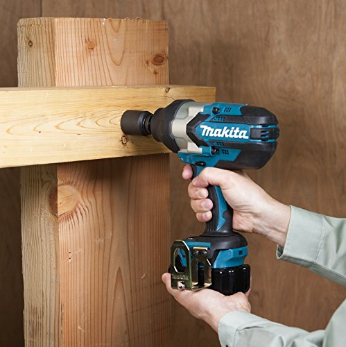 Makita DTW1002Z 18 V LXT Brushless 1/2In Impact Wrench Bare Unit, 500 W, Blue, Large