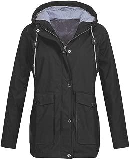 Womens Outdoor Lightweight Jacket Waterproof Windproof Rain Jackets Hooded Raincoat Windbreaker