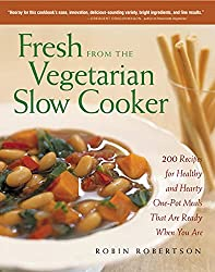 "Robin Robertson's Fresh from the Vegetarian Slow Cooker (paperback). <a href=""https://www.amazon.com/gp/product/1558322566/ref=as_li_qf_asin_il_tl?ie=UTF8&amp;tag=ris15-20&amp;creative=9325&amp;linkCode=as2&amp;creativeASIN=1558322566&amp;linkId=a6a484470349776fc5272d83f32a111f"" target=""_blank"" rel=""nofollow noopener""><span style=""text-decoration: underline;""><strong><span style=""color: #0000ff; text-decoration: underline;"">Buy it today on Amazon.</span></strong></span></a>"