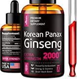 Liquid Korean Panax Ginseng Extract - High in Ginsenosides - Made in USA - Organic Ginseng for Immune Support, Energy Boost & Cognitive Function Improvement - Energy & Focus Increase for Women & Men
