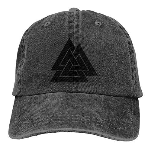 FTTUTY Valknut Symbol Norse Warrior Baseball-Cap Twill Adjustable Dad-Hat