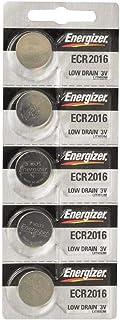 Energizer CR2016 Lithium Battery 3V, 5 Pack