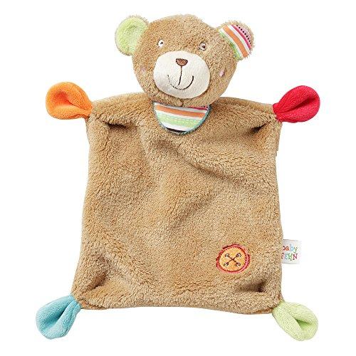 Fehn 091267 Schmusetuch Teddy / Schnuffeltuch mit Teddy-Köpfchen zum Greifen, Fühlen, Knuddeln und Liebhaben für Babys und Kleinkinder ab 0+ Monaten