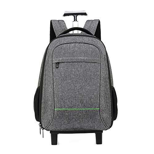 FREETT Travel Trolley Suitcase, Backpack with Wheeled for Boarding, School, University, Unisex Luggage Case Bag, Waterproof,S