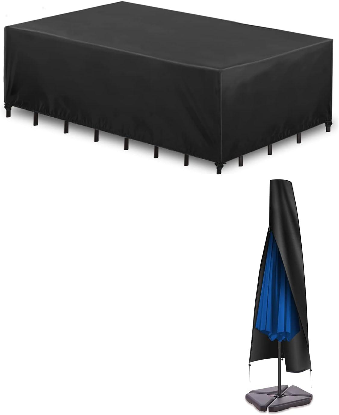 Essort Patio Furniture Large Covers Wa and Umbrella Virginia Beach Mall Garden Cover Cheap sale