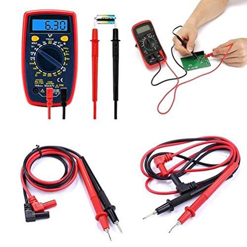 LAKIOMZ Universal-Elektronisches Multimeter, Testleitungen, digitales Multimeter, Test Porbes Draht Stiftkabel